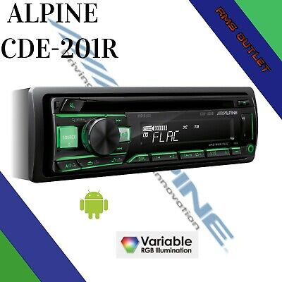 Alpine CDE-201R Car CD MP3 Android AUX USB Car Stereo Player Top...