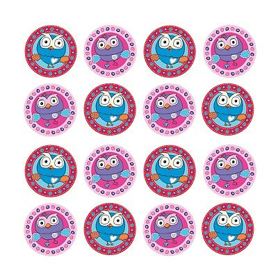 16x EDIBLE Giggle Hoot Hootabelle Owl Cupcake Birthday Wafer Paper 4cm (uncut) - Owl Cupcake Papers