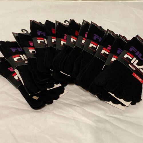 12 PACK LOT OF BRAND NEW KIDS FILA SKELETOES SOCKS IN BLACK! SIZE 6-8!