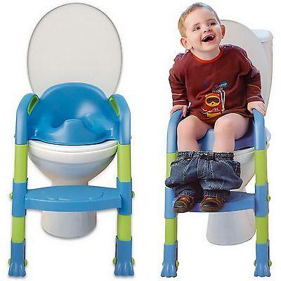 Thermobaby - Kiddyloo Toilettentrainer Toiletten-Trainer - blau/grün NEU