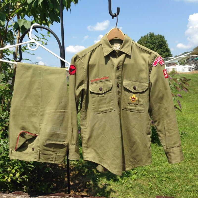 1950`s Boy Scouts of America 2 pc Uniform Trenton NJ 30 BSA Shirt & Trousers