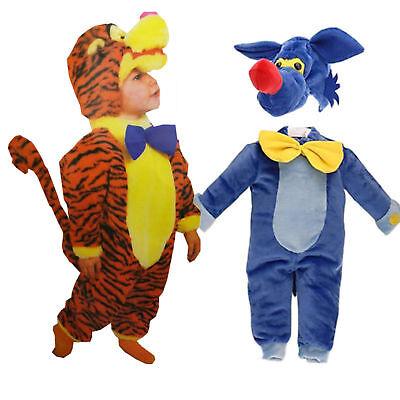 Baby Kinder Kostüm Fasching Tier Tiger Fuchs Jungs Einteiler 12-18 Monate