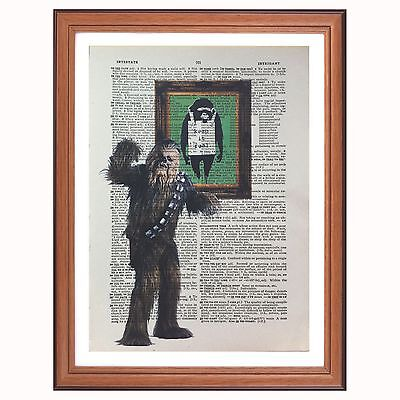 Banksy Star War Graffiti Art Canvas Wall A2 A1 A0 Large Gift Present OC0182