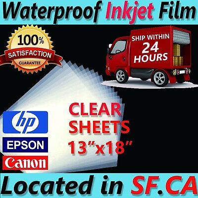13 X 18100 Sheetspremium Waterproof Inkjet Transparency Film Paper