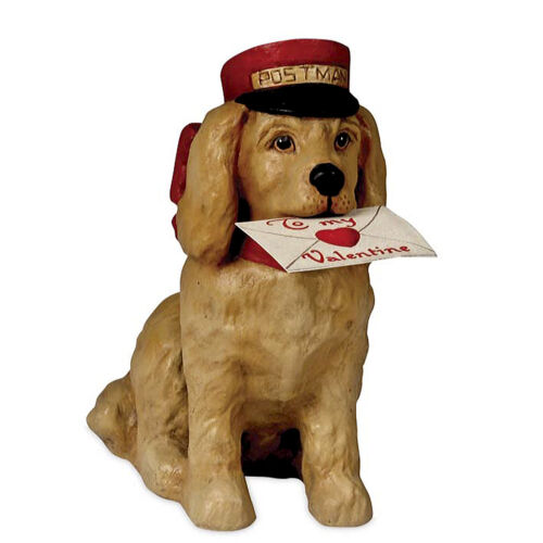 "5"" Bethany Lowe Puppy Love Postman Valentines Day Retro Vntg Figurine Decor"