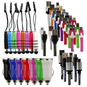 Trio-Confezione-Micro-USB-Caricabatteria-da-auto-Mini-Stilo-per-Panasonic