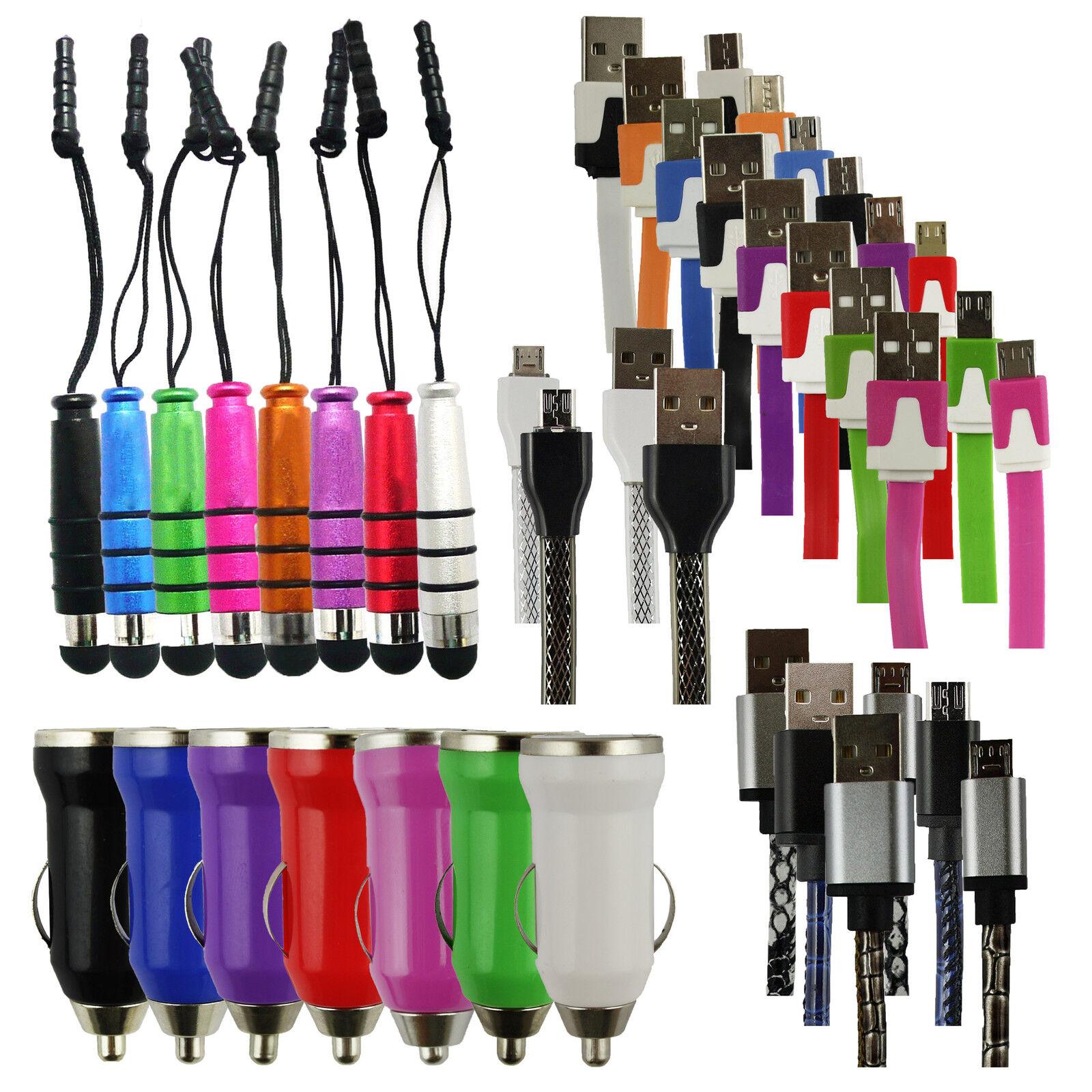 Trio Confezione (Micro USB, Caricabatteria da auto, Mini Stilo ) per Haier TERRA