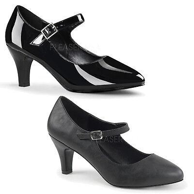 PLEASER - Divine-440 Block Heel D'Orsay Mary Jane Pump Shoe Block Heel Mary Jane Pump