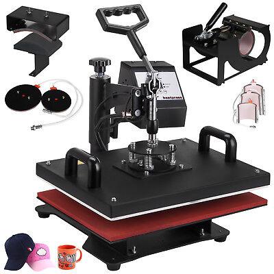 8in1 T-shirt Mug Hat Plate Cap Heat Press Machine Digital Transfer Sublimation