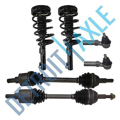 - 2 Front CV Axle Shaft + 2 New Ready Strut Ass'y + New Outer Tie Rod for Windstar