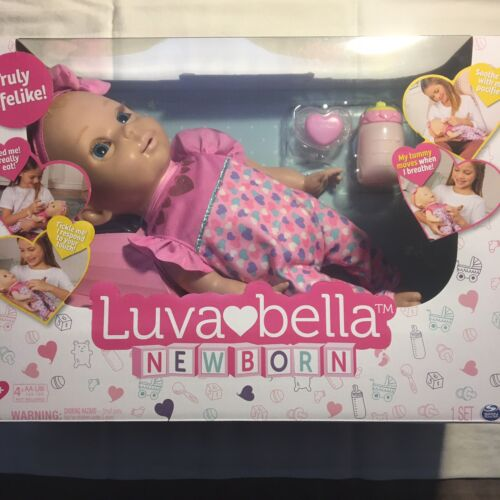 Luvabella Newborn Interactive Baby Doll Blonde Hair Real Expressions Movement  - $55.00