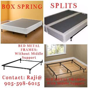 METAL BED FRAMES AND BOX SPRING ON SALE
