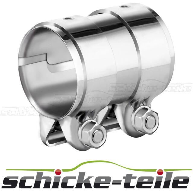HJS Edelstahl Rohrverbinder Doppelschelle Auspuff Durchmesser Ø 36 - 70 mm