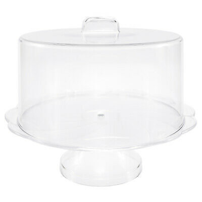Excellent Condition Indiana Glass Co 1950s 11 inch diameter top and 4.75 inch high White Milk Glass Pedestal Tear Drop Cake Stand