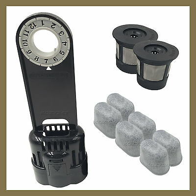 Keurig 1.0 Water Filter Replacement Starter Kit w/2 Reusable Kcup 6 Water Filter (Kcup Filter)