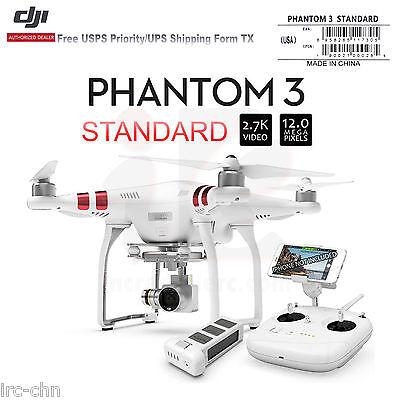 DJI Phantom 3 Standard RC Drone W/2.7K 12 Megapixel HD Camera and 3-Axis Gimbal