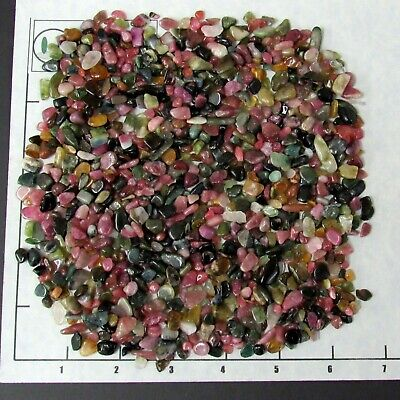 TOURMALINE MIX Chips tumbled 5-11mm 1/2 lb bulk stones pink green black etc.