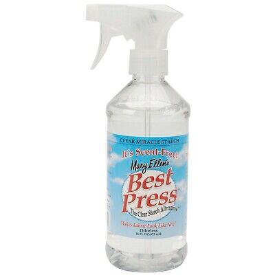 Best Press Clear Ironing  Starch Spray 16.9oz Scent