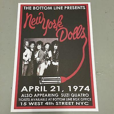 NEW YORK DOLLS + SUZI QUATRO - CONCERT POSTER NEW YORK 21st APRIL 1974 (A3 SIZE) - New York Dolls Concerto