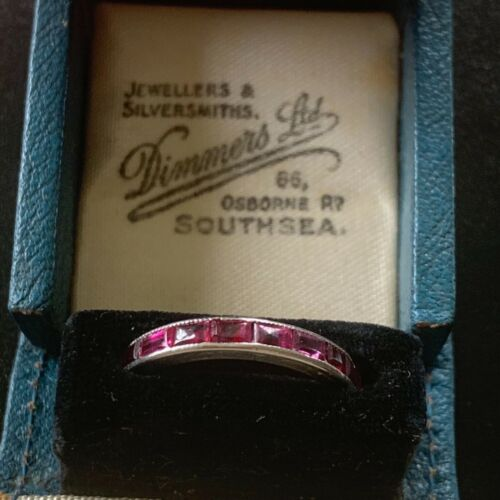 Ruby and Platinum Full Eternity Ring