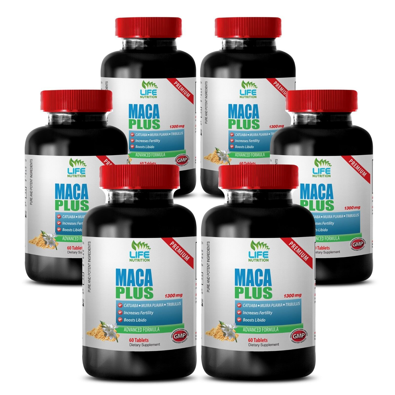 Aging Male Testosterone Booster - Maca Complex 1301mg - Asia