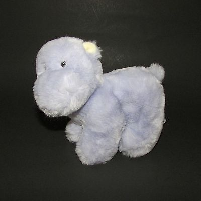 "Baby Gund Purple Soft Plush Stuffed Toy hippo 58507 little  squeaks cha cha 6"""