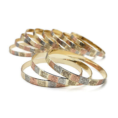 Oro Laminado Gold Plated Wholesale Lot Women Set Bangles Stack Set GP-BA11957 S5 segunda mano  Embacar hacia Argentina