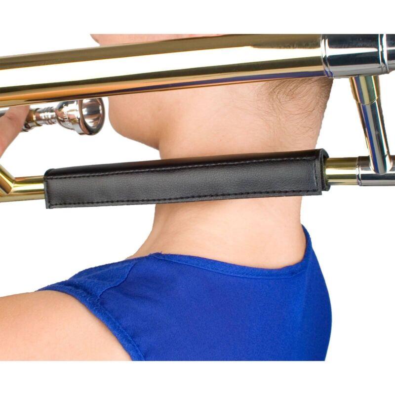 Protec Straight Trombone Padded Leather Neck Guard Black