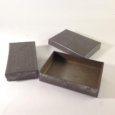 (z108) Alte Blechdosen Dosen aus Metall Blech  B 13,5 und 14,5 cm Deckeldosen