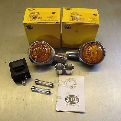 BMW OEM Hella Bar End Turn Signals + 6v LED BULBS +RELAY R69S R69US R50/2 R60/2 Bmw Turn Signal Relay