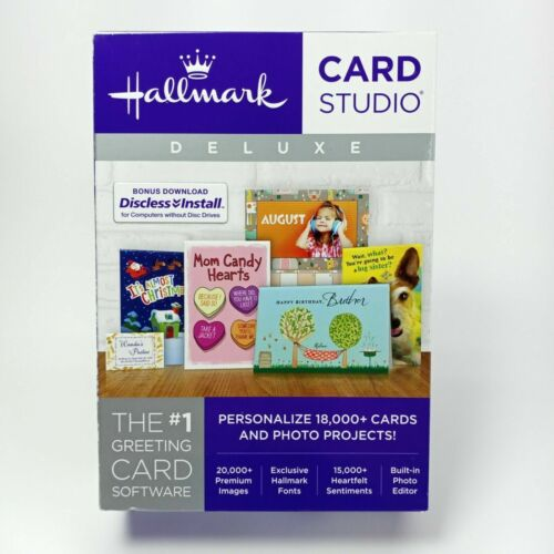 Hallmark Card Studio Deluxe works with Windows 10 - Brand New Sealed