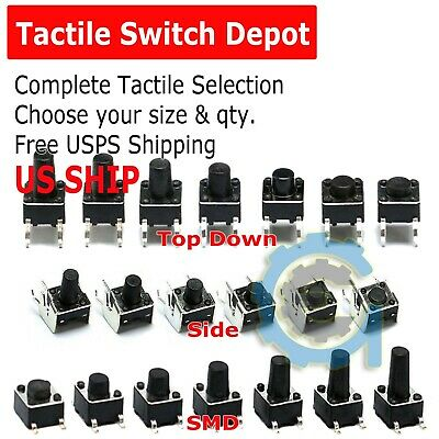 30+ SMD Verical Tactile Mini Micro Momentary Push Button Switch Tact Assortment