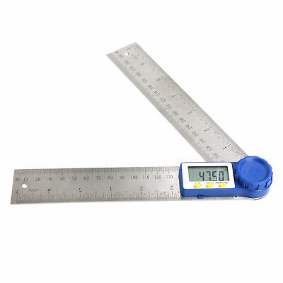 Digital Protractor Rule Miter Gauge Electronic 7 Angle Measuring Stainless