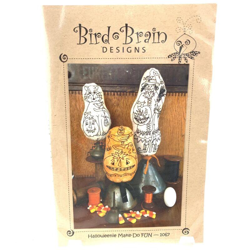 Bird Brain Designs Halloweenieake Do Fun 1067 Embroidery Kit Witch Pumpkin New