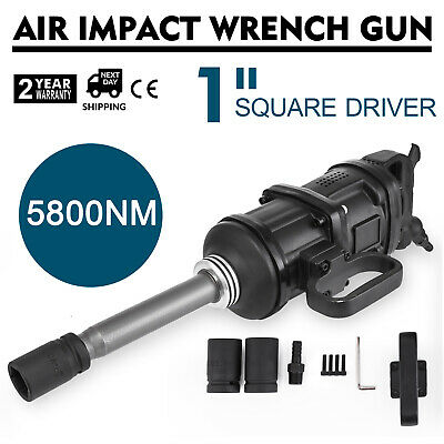 Vevor 1 Drive Air Impact Wrench Pneumatic Hammer Gun Tool Long Shank 5800 N.m