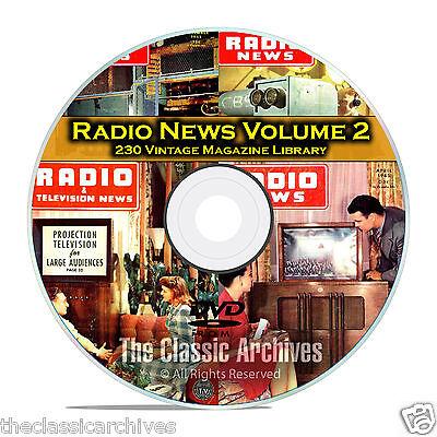 Radio   Tv News  Electronics World  Vol 2  230 Vintage Magazines Pdf Dvd B83