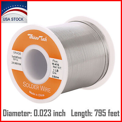 6040 Tin Lead Rosin Core Solder Wire Soldering Sn60 Pb40 Flux .0230.6mm 1lb