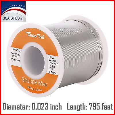 6040 Tin Lead Rosin Core Solder Wire Soldering Sn60 Pb40 Flux .0230.6mm 1lb