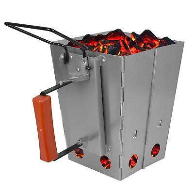 Foldable BBQ Charcoal Chimney Starter Quick Start Grill Lighter Burner Coal