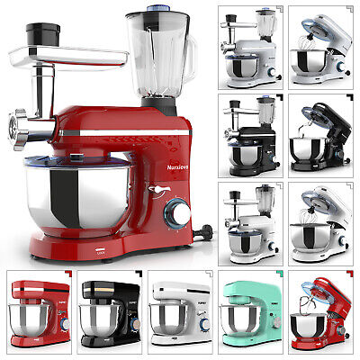 3 IN 1/Mix-only Tilt-Head Stand Mixer 6/8 Speed w/ 4.7/7QT Bowl Black/White/Red