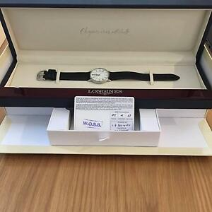 Womens Longines Watch white face leather strap Blackburn Whitehorse Area Preview