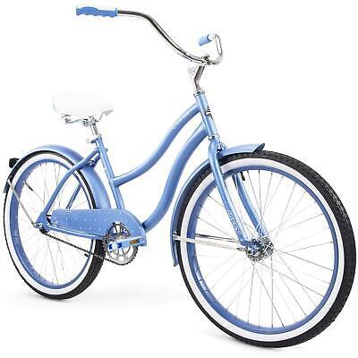 "Huffy 24"" Cranbrook Womens Comfort Cruiser Bike, Periwinkle Blue"
