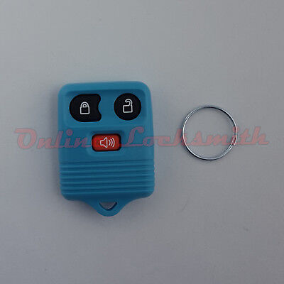 Keyless Entry Remote Alarm Replacement For Ford 3 Buttons DIY Programming Blue