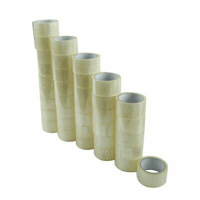 72 Rolls Carton Sealing Clear Packing Tape Box Shipping - 2 mil 2