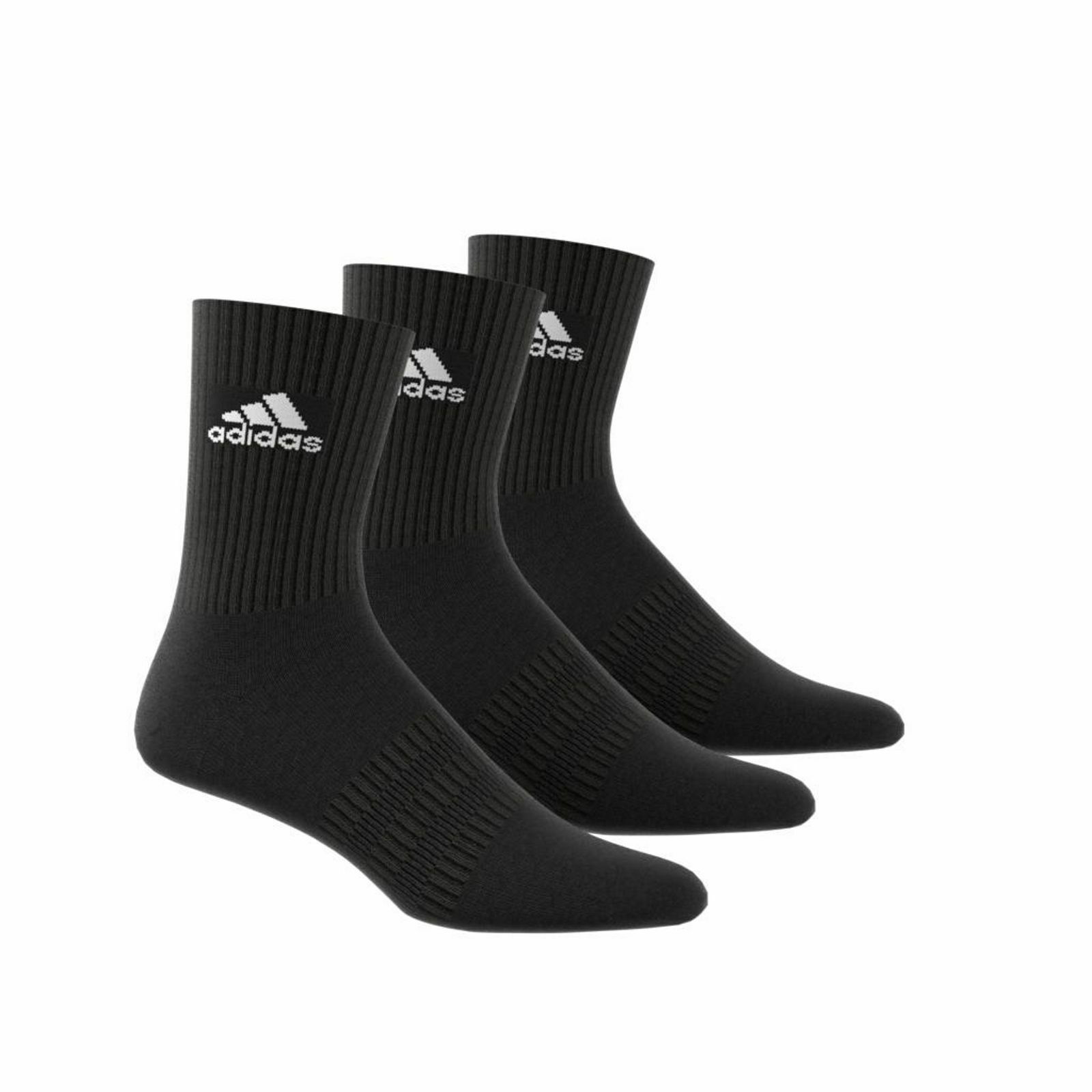 adidas Damen Herren Socken CUSHION CREW Socks Strümpfe schwarz 3er Pack DZ9357