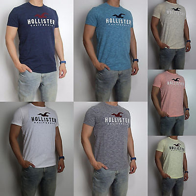 NWT HOLLISTER Applique Logo Graphic Men T Shirt Tee By Abercrombie All Sizes