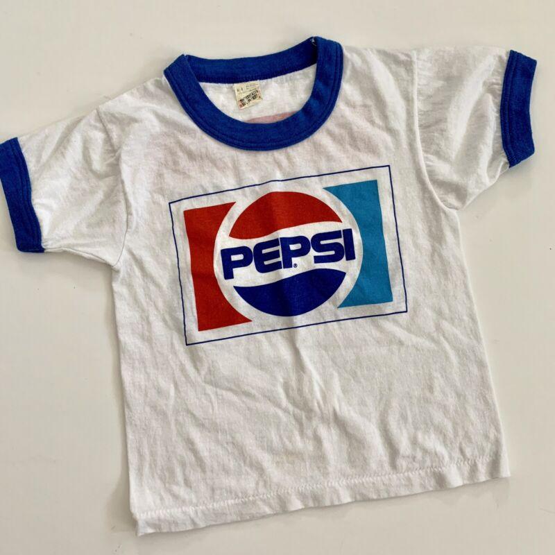 Vtg 80s Pepsi Promo Kids Youth Boys Size 4 T Shirt Idaho Mountains Screen Stars