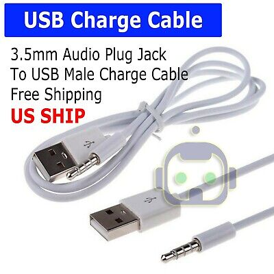 3.5mm AUX Audio Plug Jack to USB 2.0 Male Charge Cable Adapter Cord Car iPod - Ipod Charging Adapter Usb