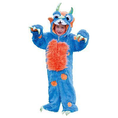 Kinder Kleinkinder Jungen Mädchen Luxus Plüsch Blau Monster Kostüm Buch - Kleinkind Jungen Monster Kostüm
