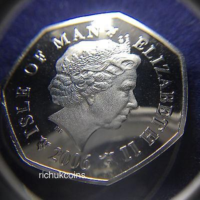 2006 IOM Xmas Colour-printed Diamond Finish 50p Coin